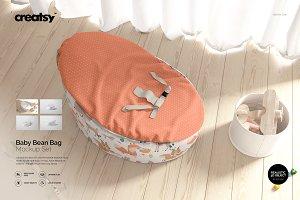 Baby Bean Bag Mockup Set