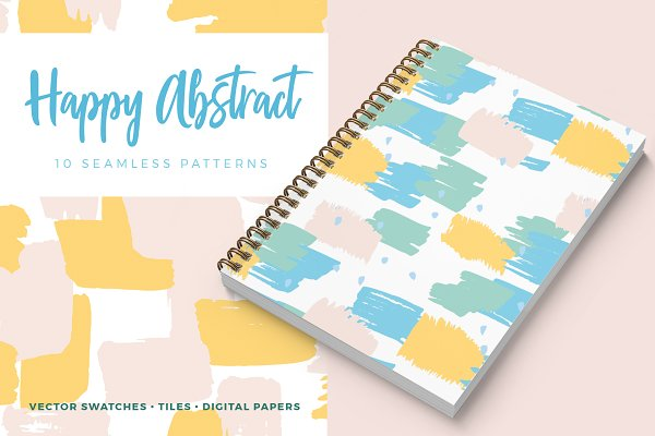 Patterns: Youandigraphics - Happy Abstract Seamless Patterns