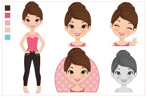 Vector Teenager set
