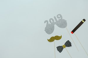 Happy new year decoration 2019.