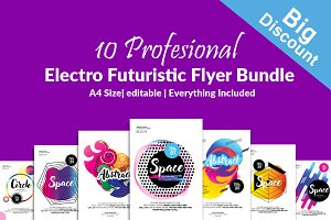 Electro Flyers Template 10 Bundle