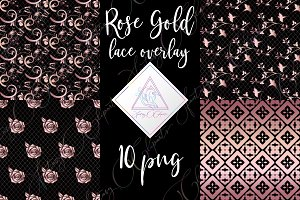 Rose Gold Lace Clipart