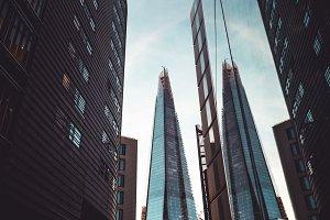 Shard building modern London skyline