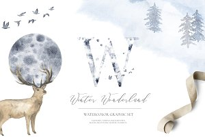 Winter Wonderland - watercolor set