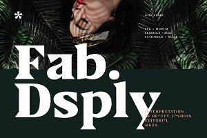 Fab Display - Editorial Font