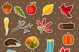 Autumn stickers.