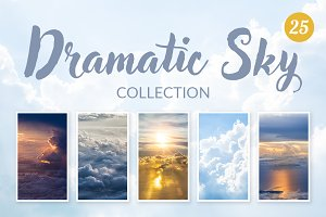 Dramatic sky collection (25 JPGs)