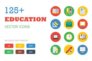 125+ Education Vector Icons