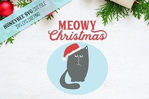 Meowy Christmas SVG Cut File