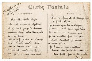 Vintage french postcard stamp Paris