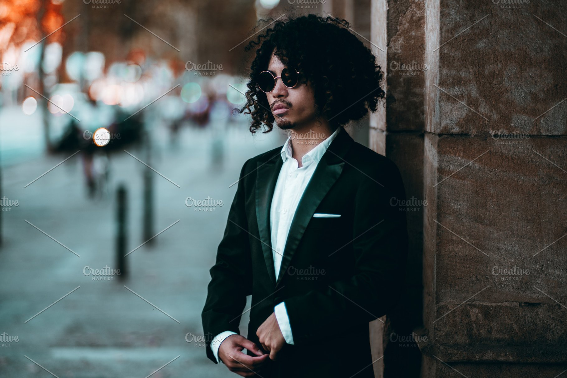 Elegant young Asian guy in a suit ~ People Photos ~ Creative Market