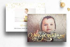 Photo Christmas Card Template | 014