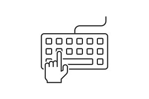 Hand typing on keyboard