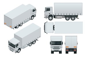 Truck delivery, lorry mock-up