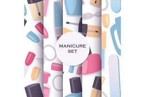 Manicure and pedicure tools seamless