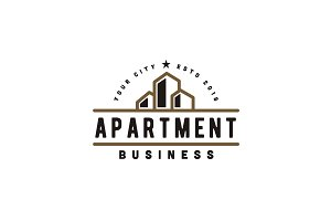 Apartment Building Business Logo