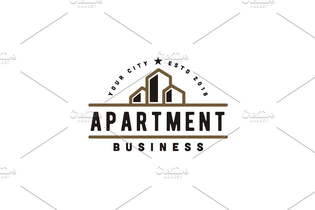 Save Apartment Building Business Logo