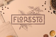 Floresto Textured Typeface