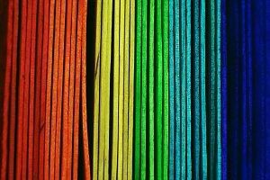 Rainbow abstract macro