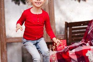 Happy kid girl