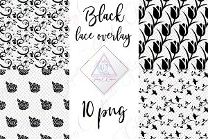 Black Lace Clipart
