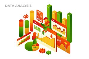 Data Analysis - Vector Illustration