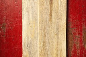 Wooden cutting board on rustic backg