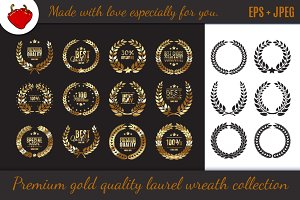 Premium quality laurel wreath set