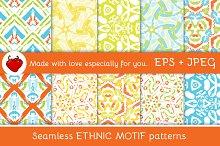Ethnic motif. Seamless pattern 1
