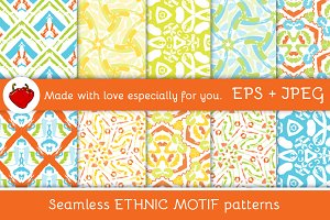 Ethnic motif. Seamless pattern 1