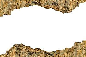 Blank Landscape Frame with Broken Br
