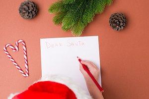 Christmas concept. Letter for Santa