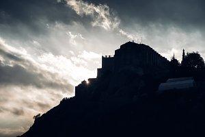 Silhouette of Stavrovouni Monastery
