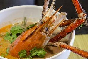 crab soup, asian food