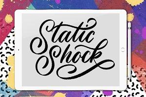 Static Shock Lettering Brush
