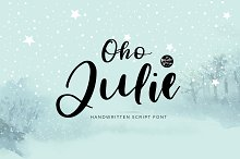 Oho Julie   Handwritten Script Font