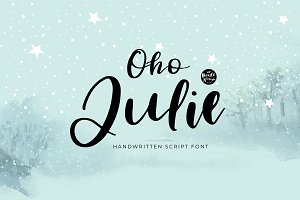 Oho Julie | Handwritten Script Font