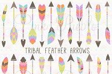 Tribal Feather Arrow Clipart Vectors