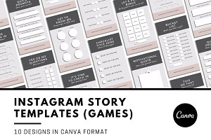 Instagram Story Games Template Canva