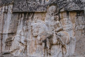 Triumph Shapur over emperors Naqsh-e