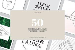 50 Modern Delicate Logos Brand Kit
