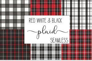 Buffalo Plaid Red black & white