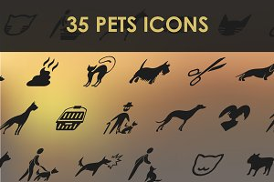 Set of pets icons.