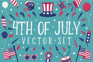 July 4th Independence Day Vector Set