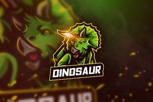 Dinosaur - mascot logo