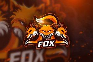 Fox - mascot logo