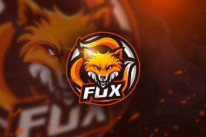 Fox 3 - mascot logo