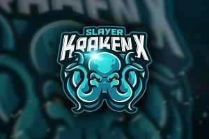 Slayer KrakenX - Mascot &Esport Logo