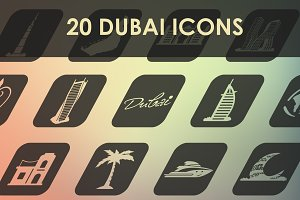 Set of Dubai icons