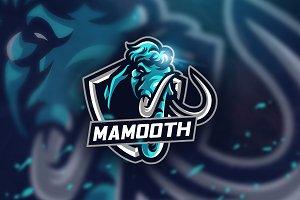Blue Mamooth - Mascot & Esport Logo